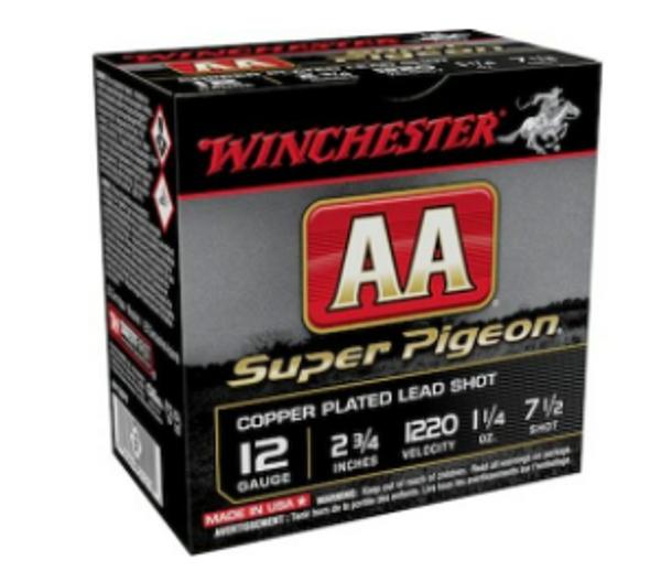 """Winchester 12 Gauge Ammunition AA12SP7 2-3/4"""" 1-1/4 oz 7-1/2"""