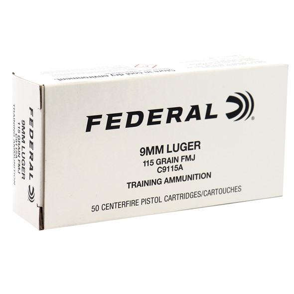 Federal 9mm Lugar 115gr FMJ Training 500 Rounds