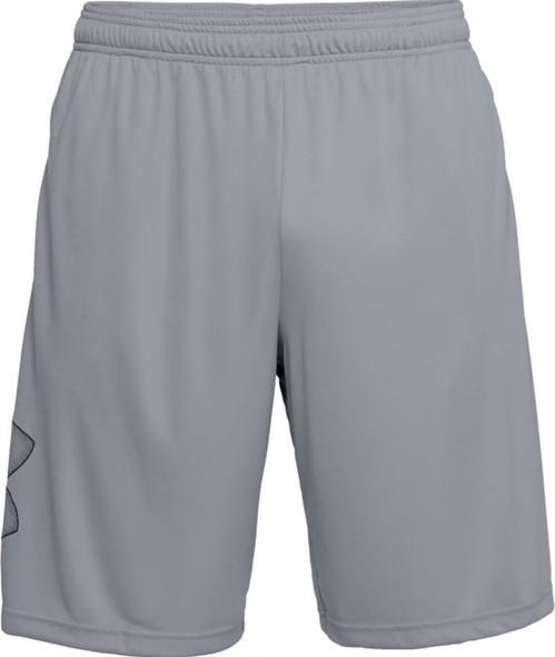 Under Armour Men's UA Tech Graphic Athletic Shorts, Steel/Black - 1306443-035