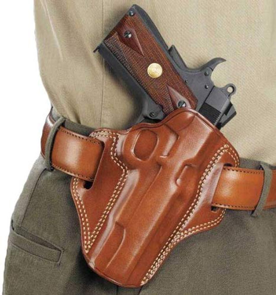 Galco Combat Master Holster for 1911 5-In Colt, Kimber, Para, Springfield Tan LH