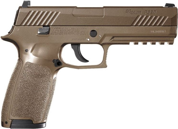Sig Sauer P320 CO2 Powered Air Pistol w/ .177 Caliber 30 Pellet Rounds - Coyote