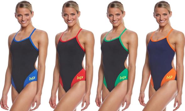MP Michael Phelps Women's Splice Mid Back One Piece Swimsuit - SW2520