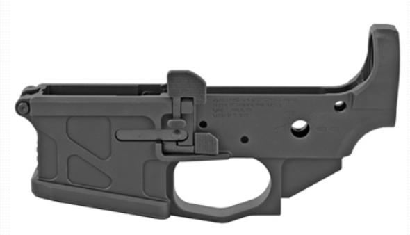 American Defense Mfg., Billet UIC Stripped Lower Receiver, 223 Remington/556NATO, Black Finish