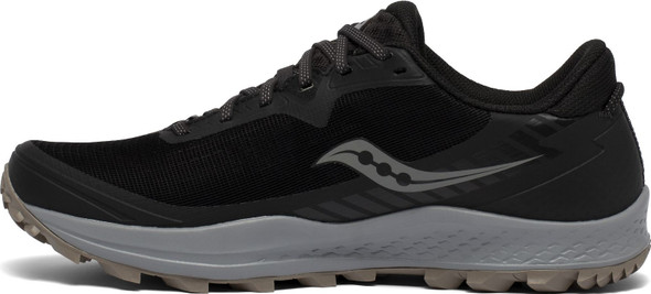 Saucony Peregrine 11 GTX Men's Athletic Running Shoes, Black/Gravel - S20643-45