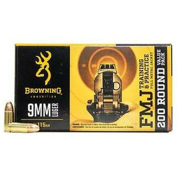 Browning FMJ 9mm Luger 115 Gr FMJ #B191800096 (1000 Rounds)
