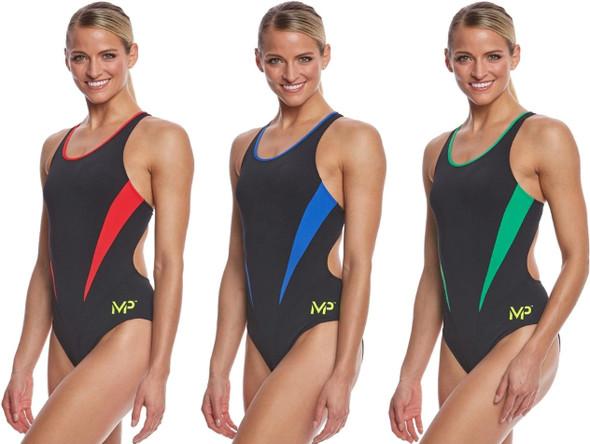 Aqua Sphere MP Michael Phelps Women's Splice Comp Back One Piece Swimsuit SW2560