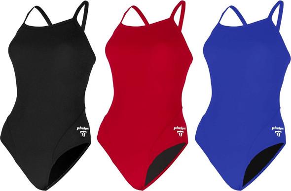 Aqua Sphere MP Michael Phelps Women's Solid Mid Back One Piece Swimsuit - SW2530