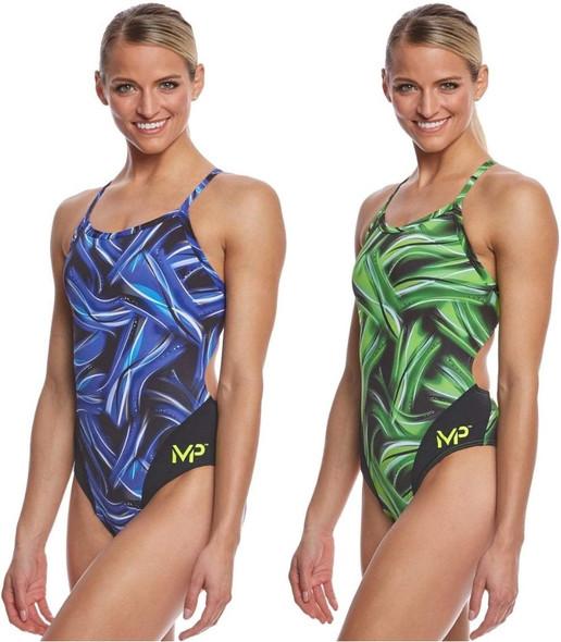 Aqua Sphere MP Michael Phelps Women's Diablo Mid Back One Piece Swimsuit - SW254