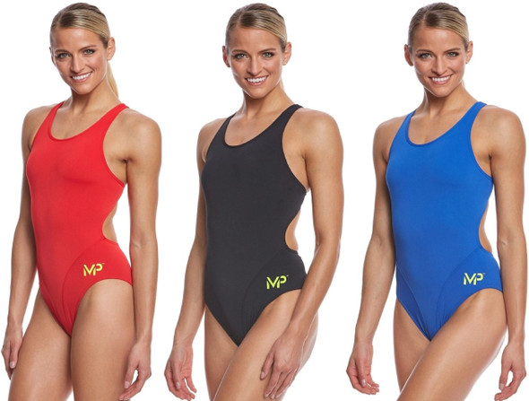 Aqua Sphere MP Michael Phelps Women's Solid Comp Back One Piece Swimsuit - SW257