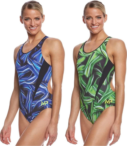 Aqua Sphere MP Michael Phelps Women's Diablo Comp Back One Piece Swimsuit SW2589