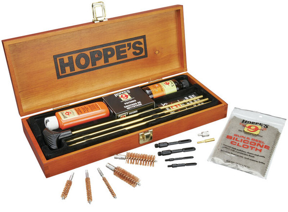 Hoppe's BUOX Deluxe Gun Cleaning Kit w/ Wooden Box Presentation - BUOX