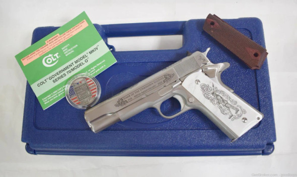Colt M1911 A1 GI TOTUS Unkown Soldier Stainless/Engraved .45ACP Pistol