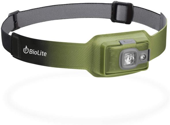 BioLite HeadLamp HPB0205 200 Lumen No-Bounce Rechargeable Light, Moss Green