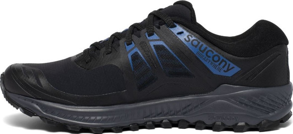 Saucony Peregrine ICE+ Men's Athletic Running Shoes, Black/Blue - S20541-2