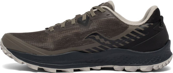 Saucony Peregrine 11 Wide Men's Athletic Running Shoes, Gravel/Black - S20642-35