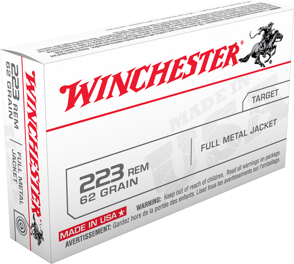 Winchester USA 223 62gr FMJ Ammunition