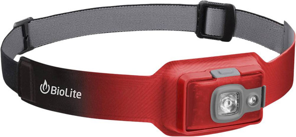 BioLite HeadLamp HPB1004 200 Lumen No-Bounce Rechargeable Light, Ember Red