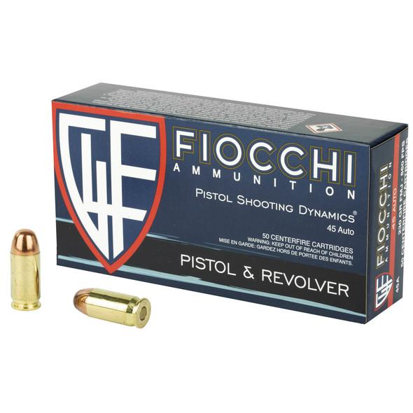 Fiocchi Ammunition, Centerfire Pistol, 45ACP, 230 Grain, Full Metal Jacket, 500 Rounds
