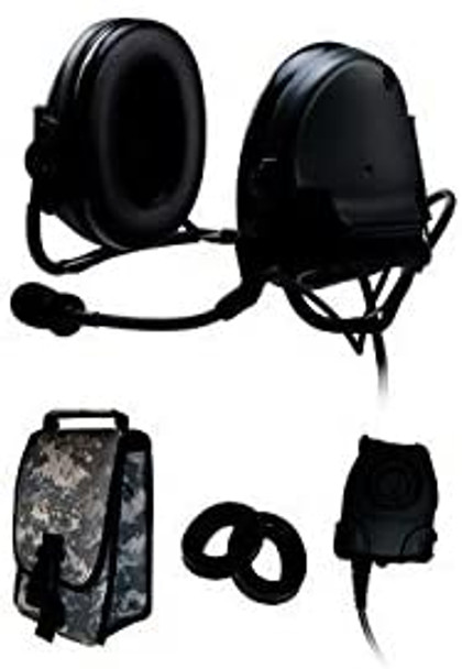 3M Peltor 88060-B Green Two-Way Radio Headset - Battery Powered - 093045-93204 [PRICE is per EACH]