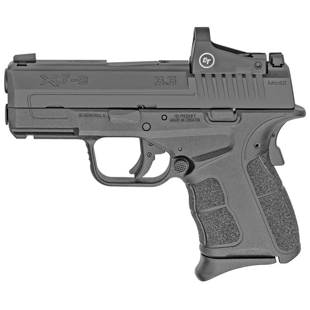 """SPRINGFIELD XD-S MOD2 9MM BLK 3.3"""" Pistol 9+1 With crimson Trace red dot"""