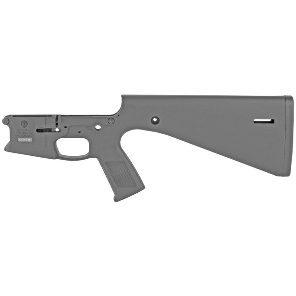 KE Arms KP-15 Stripped  Polymer Lower Receiver, Molded fixed Stock