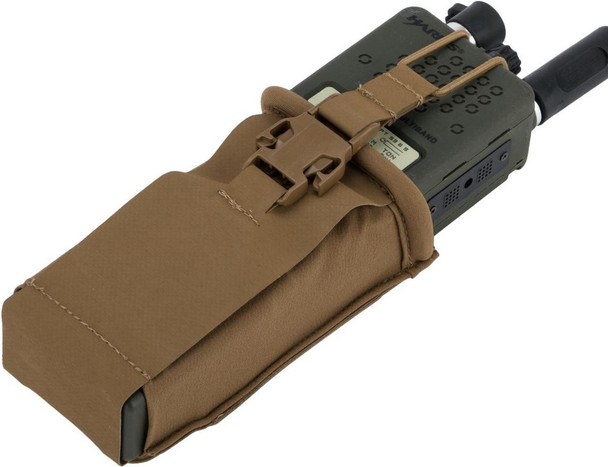 Eagle Industries HTS Style MBITR Radio Pouch w/ Bungee Retention, Coyote Brown