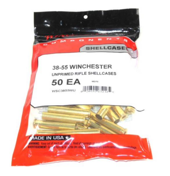 Winchester Unprimed Brass Cases 38-55 Winchester 50/Bag