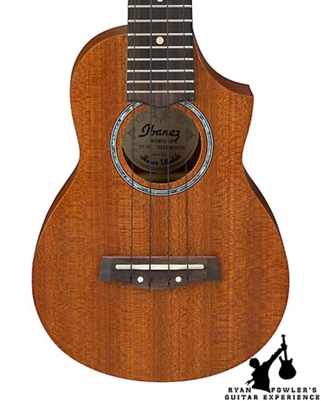 Ibanez Uews5 Exotic Wood Soprano Acoustic Ukulele Open Pore Natural