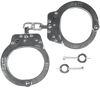 2010-HD-1189171 Nickel Chain Handcuffs with Double Key Hole by Hiatt