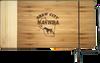 "CTB223 - 12"" x 6"" Bamboo Rectangle Cutting Board with Metal Cheese Cutter"