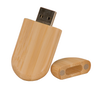 """8MEM001 - 1 1/8"""" x 2 3/8"""" 8GB Bamboo USB Flash Drive with Rounded Corners"""