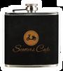 FSK614 - 6 oz. Black Velvet/Gold Stainless Steel Flask