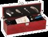 WBX15 - Burlwood High Gloss Finish Single Wine Box with Tools