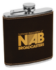 FSK615-18 - 6 oz. Laserable Leatherette Stainless Steel Flask