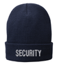 Navy knit cap 12 inch with Security in Tear Drop Thread