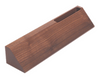 """DS20: 10"""" Walnut Desk Wedge with Business Card Holder"""