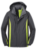 J321 outer Jacket in Magnetic Grey/black/Charge Green