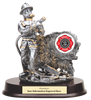 LSR-RSN-RF981SG: Firefighter Resin Statue with Hose
