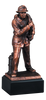LSR-RSN-RFB059: 12 in. Firefighter w/Fire Hose Statue