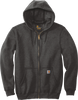 Carbon Heather CTK122 Carhartt 10.5 oz Midweight Hooded Full Zip Sweatshirt