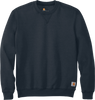 Navy CTK124 Carhartt 10.5 oz Midweight Crew Neck Sweatshirt
