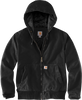 CT104053: Women's Black Washed Duck Active Jacket front view