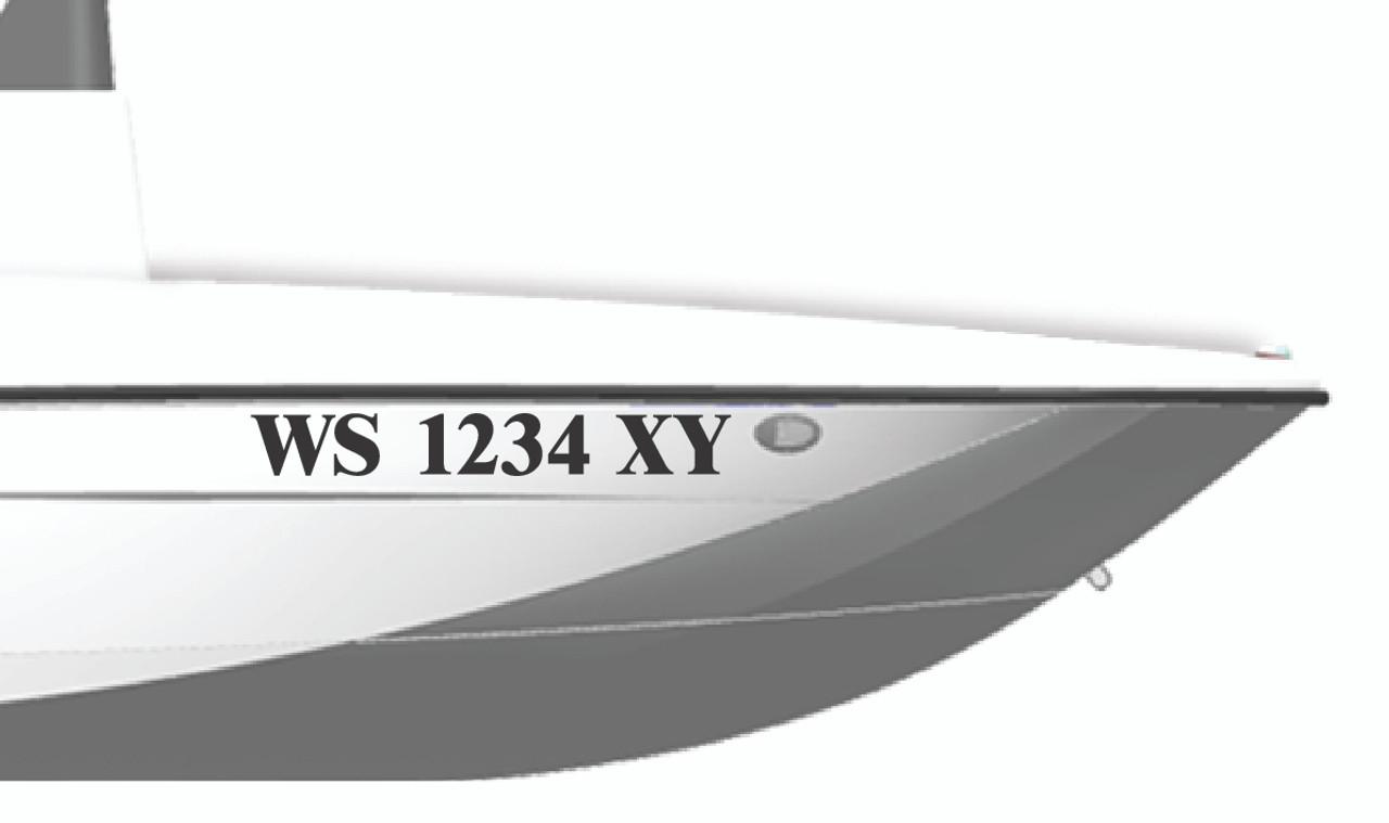 Pre-Spaced Vinyl Numbers: Boat, USDOT, MC, GVW, ICC, EW Numbers - 1 PAIR
