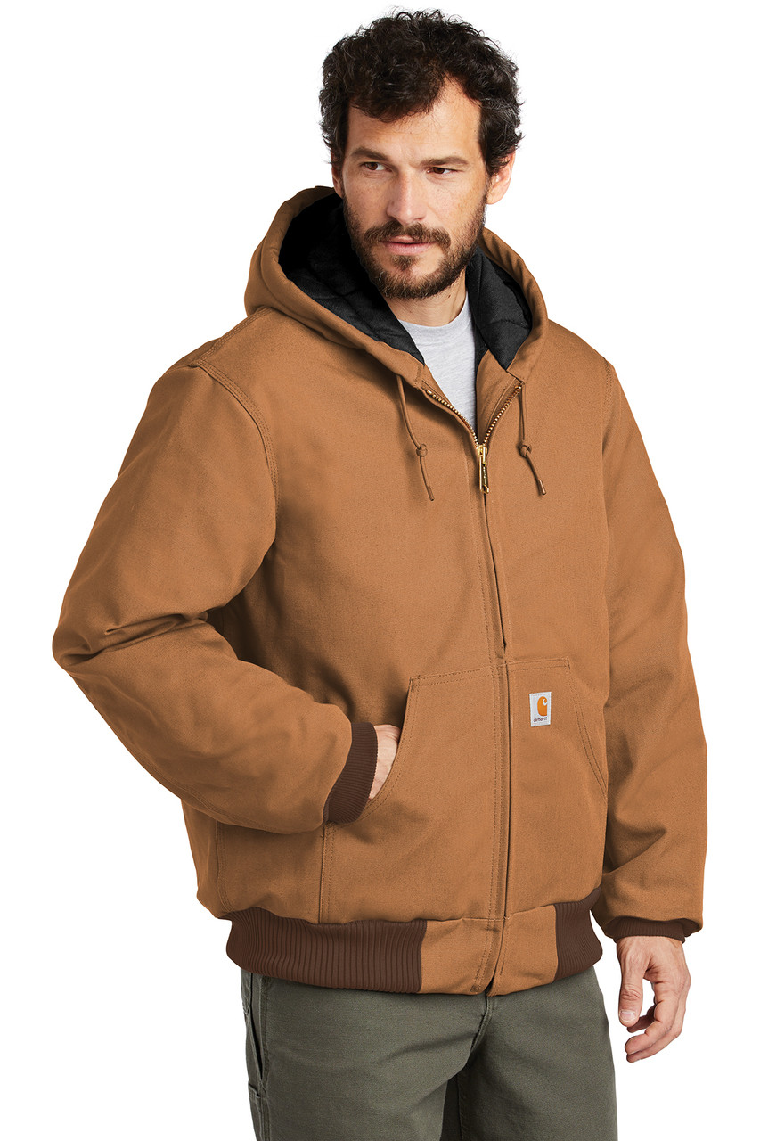 CTSJ140: Quilted-Flannel-Lined Duck Active Jacket by Carhartt