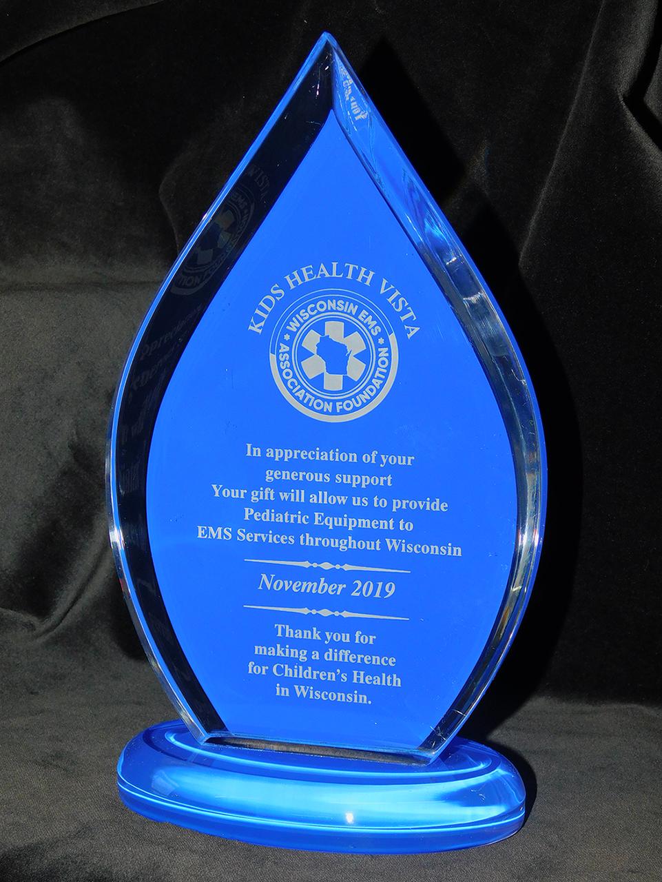 ACR-A685-FLM-BLU: Blue Flame Series Acrylic Award