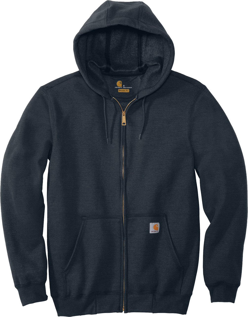 Navy CTK122 Carhartt 10.5 oz Midweight Hooded Full Zip Sweatshirt