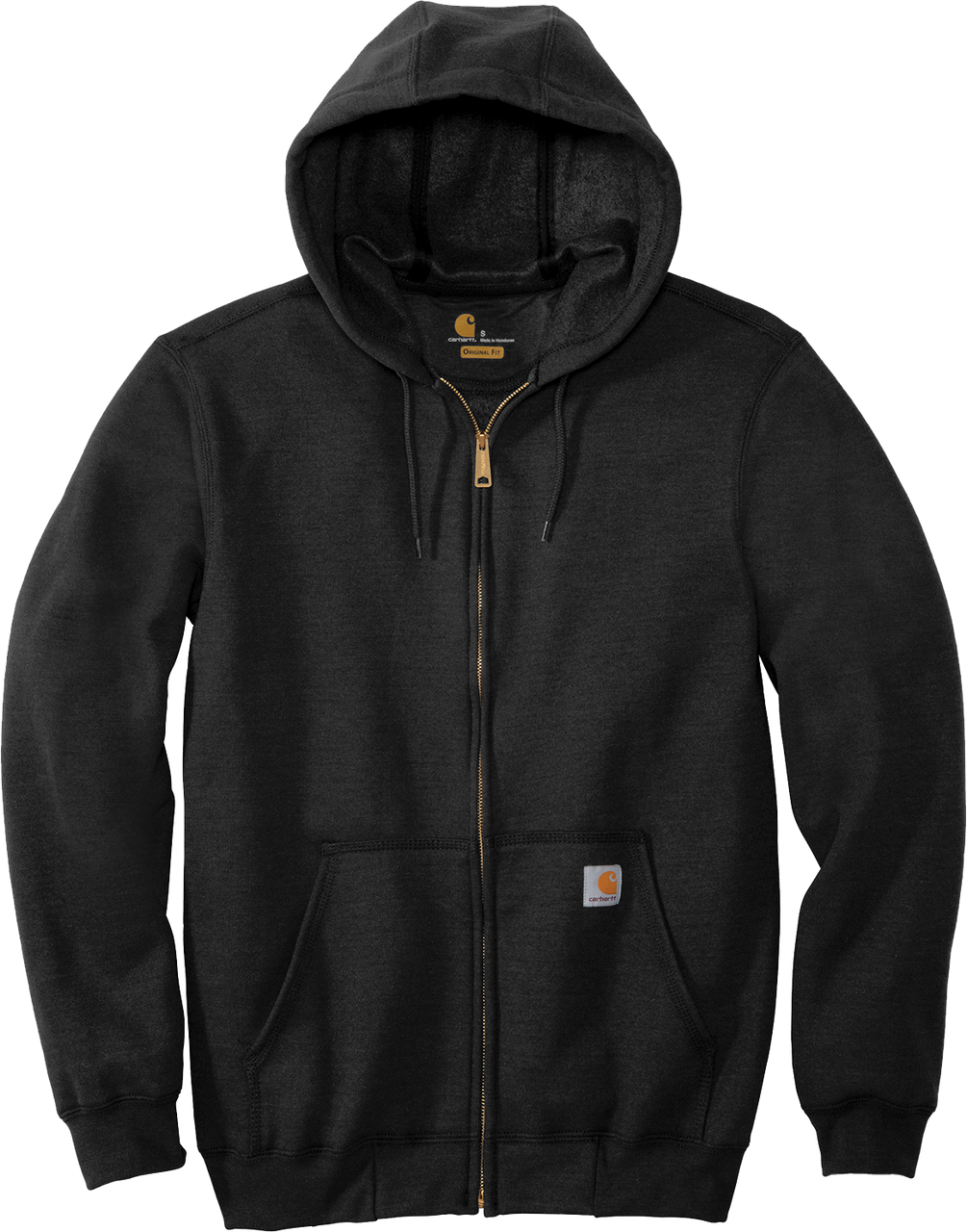 Black CTK122 Carhartt 10.5 oz Midweight Hooded Full Zip Sweatshirt