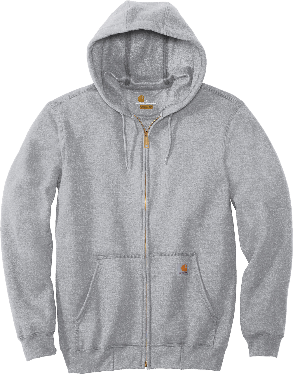 Heather Grey CTK122 Carhartt 10.5 oz Midweight Hooded Full Zip Sweatshirt