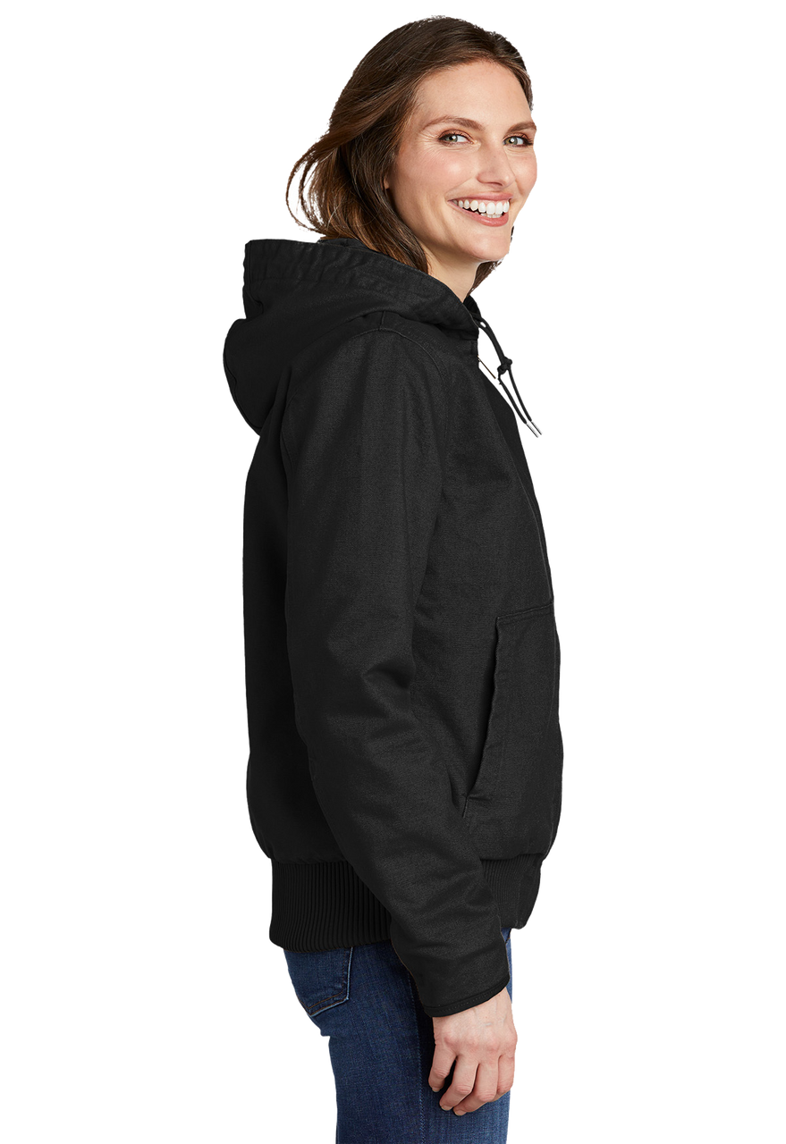 CT104053: Women's Carhartt Black Washed Duck Active Jacket Side Picture