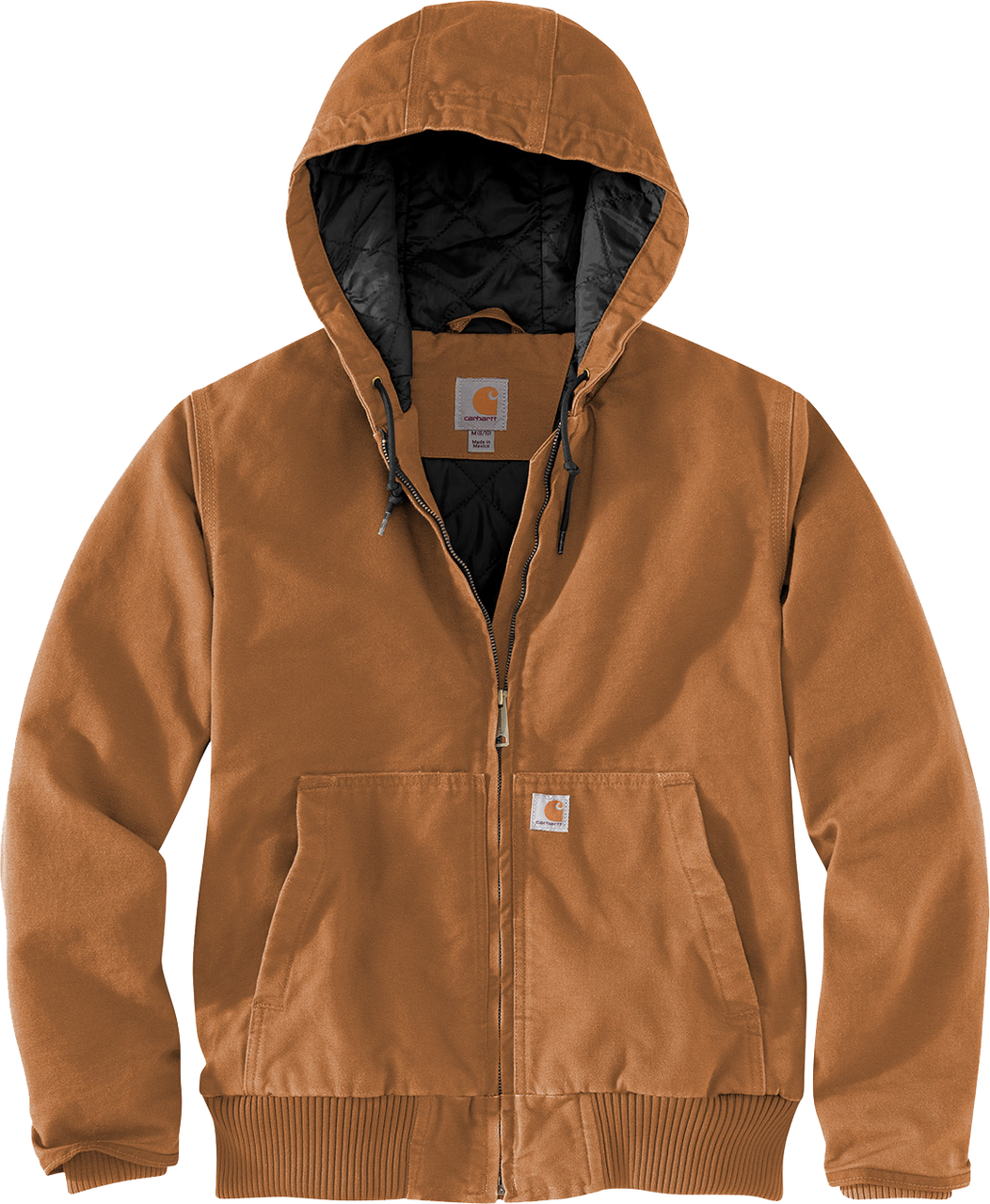 CT104053: Women's Carhartt Brown Washed Duck Active Jacket front view